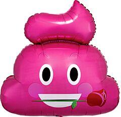 """25"""" Emoticon Pink Poop"""