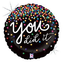 "18"" You Did It Confetti Holographic"