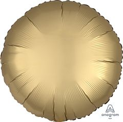 """17"""" Luxe Gold Sateen Round"""