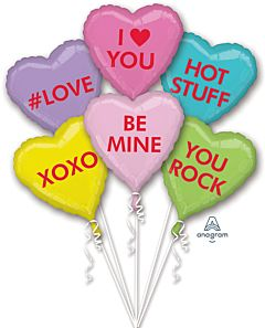 Bouquet Candy Hearts
