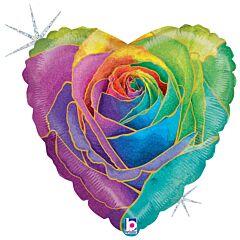 "18"" Rainbow Rose Holographic"