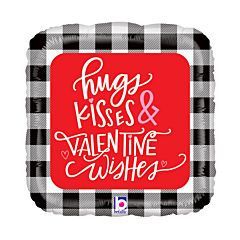 "18"" Buffalo Plaid Valentine Wishes"