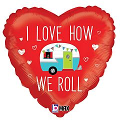"""18"""" Love How We Roll Camper"""