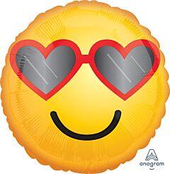 """17"""" Heart Glasses Emoticon"""