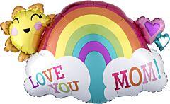 "30"" Love You Mom Rainbow"