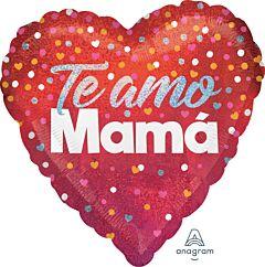 """18"""" Te Amo Mama Confetti Holographic"""
