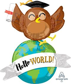 "42"" Hello World Owl"