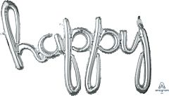 "39"" Phrase Happy Silver Consumer Inflate"