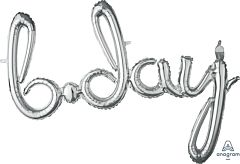 """37"""" Phrase Bday Silver Consumer Inflate"""