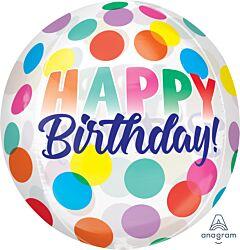 "16"" Happy Birthday Big Dots Orbz"
