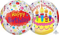 """16"""" Happy Birthday Candles/Confetti Orbz"""