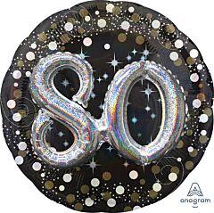 "36"" Sparkling Birthday 80"