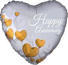 "17"" Anniversary Platinum Hearts"