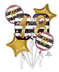 Bouquet Pink & Gold Milestone 18
