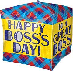 "15"" Boss Day Plaid Cubez"