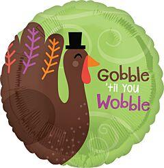 """17"""" Gobble Til You Wobble"""