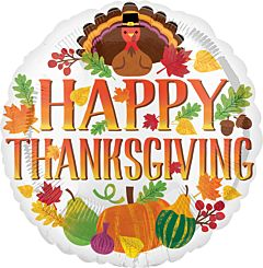 "17"" Happy Thanksgiving Turkey & Seasonal Decor"