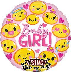 "28"" Emoticon Baby Girl Sing A Tune"