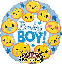 "28"" Emoticon Baby Boy Sing A Tune"