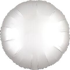 """17"""" Luxe White Satin Round"""