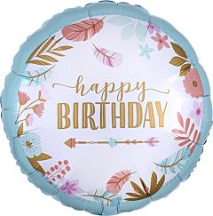 """18"""" Boho Birthday Girl"""