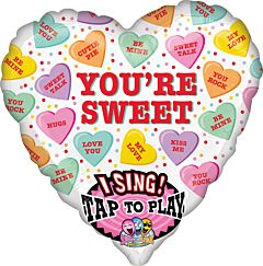 """29"""" Sweet Candy Hearts Sing-A-Tune"""