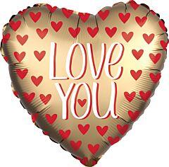 Satin Love You Gold