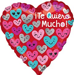 """17"""" Te Quiero Mucho Heart Faces"""