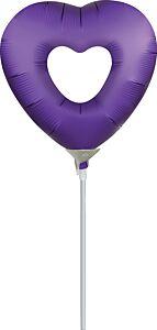 "14"" Purple Royale Heart"