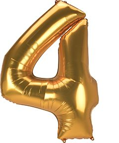 "54"" Anagram Jumbo Number 4 Gold"