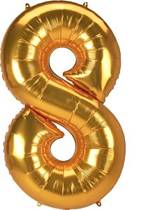 "53"" Anagram Jumbo Number 8 Gold"