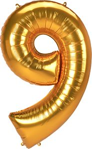 "54"" Anagram Jumbo Number 9 Gold"