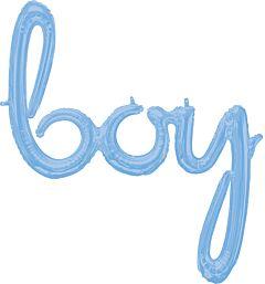 Phrase Script Boy Pale Blue