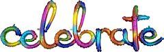 "Phrase Celebrate Rainbow, 59"" L x 20"" H"