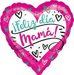 """17"""" Feliz Dia Mama Hearts"""