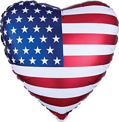 """18"""" Satin Heart Flag"""