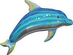 "29"" Iridescent Blue Dolphin"