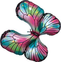 """30"""" Teal Pink Butterfly"""