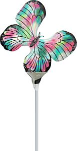 "14"" Irid Teal Pink Butterfly"