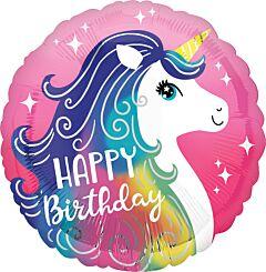 "17"" Pink Unicorn Happy Birthday"