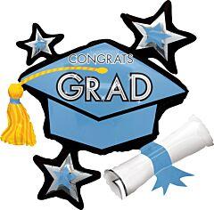 """31"""" Congrats Grad Light Blue"""