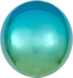 "16"" Ombre Orbz Blue & Green"