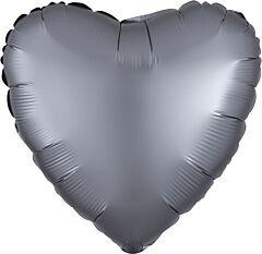 """17"""" Luxe Graphite Heart"""