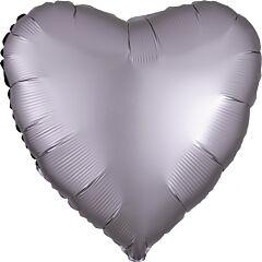 """17"""" Luxe Greige Heart"""