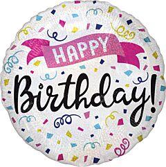 """18"""" Happy Birthday Sparkle Banner"""