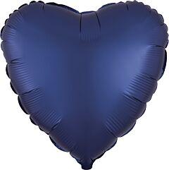"""17"""" Luxe Navy Heart"""