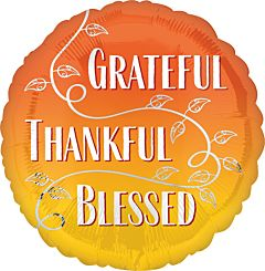 "17"" Grateful Thankful Blessed"
