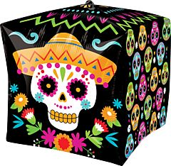 "15"" Vibrant Day of the Dead Cubez"