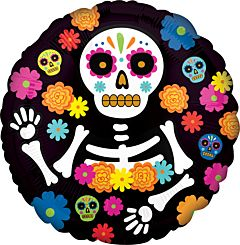 "17"" Day Of The Dead Skeleton"