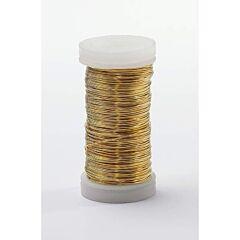 24 Gauge x 164 Ft Metallic Wire - Gold